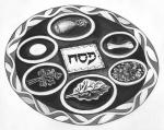 Haggadah Illustration-Seder plate
