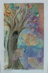 "Ilana means ""tree"" in hebrew and here she is depicted as the tree of life."