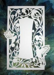 Semi-custom laser ketubah with Hummingbird motif